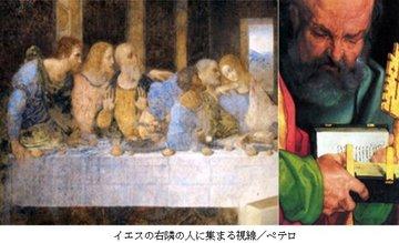 イエスの右隣りの人に集まる5人の視線.jpg