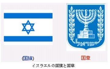 イスラエルの国旗と国章.jpg