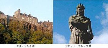 スターリング城とロバート・ブルース像.jpg